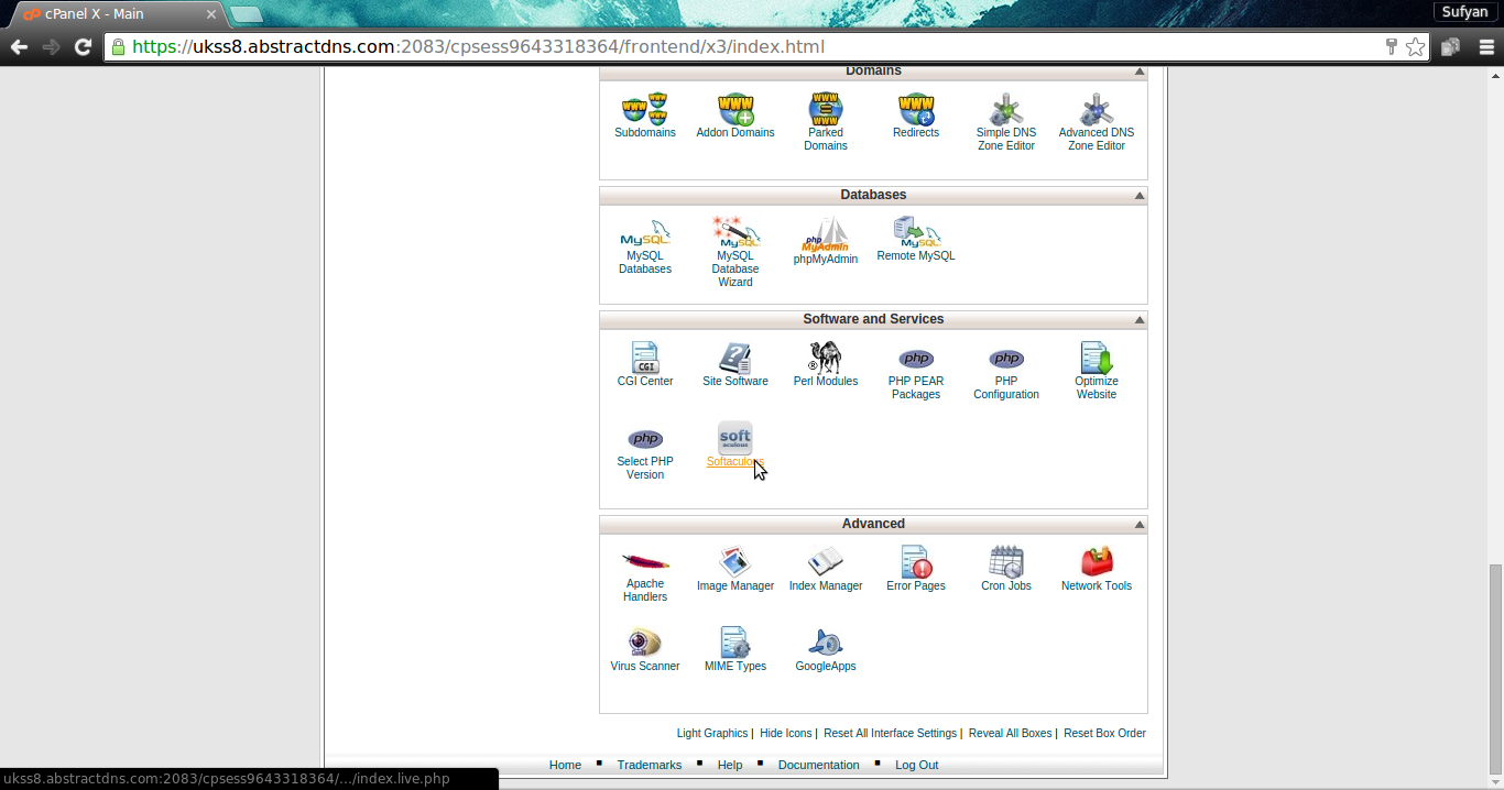 Softaculous in cPanel